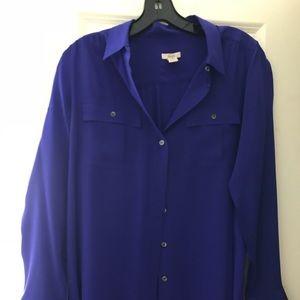 J. Crew purple blouse